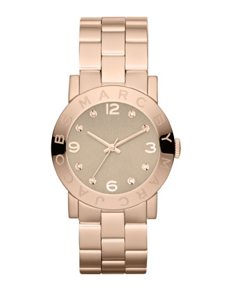 Amy Matte Rose Golden Watch