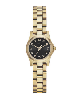 Henry Dinky Analog Watch, Light Golden