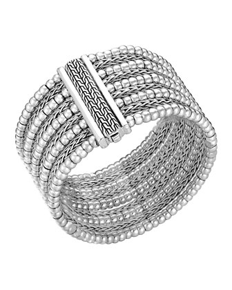 Classic Chain Silver Multi-Row Bracelet