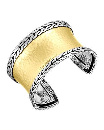 Classic Chain Palu Silver & Gold Slim Cuff