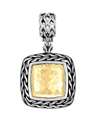 Classic Chain Palu Silver & Gold Pendant