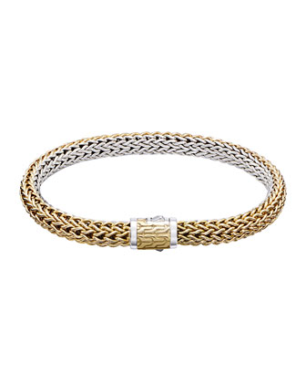 Classic Chain Small Reversible Silver & Gold Bracelet
