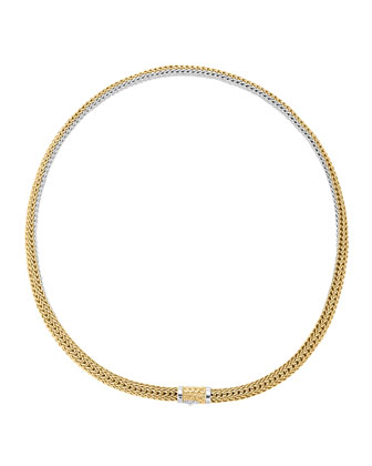 Classic Chain Extra-Small Reversible Silver & Gold Necklace