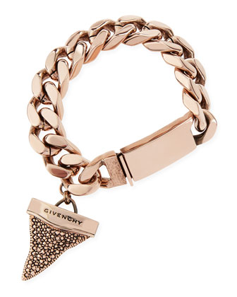 Rose Golden Pave Crystal Shark Tooth Bracelet