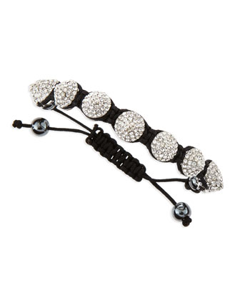 Medium Pave Crystal Spike Bracelet, Black/Silvertone