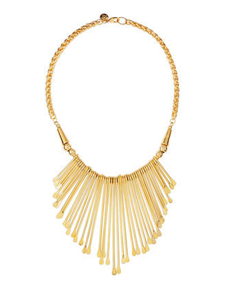 Golden Viva Glam Fringe Necklace