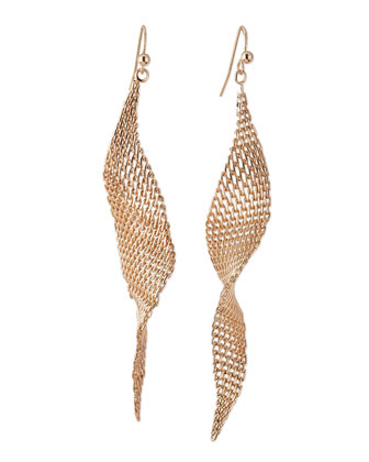 Golden Festive Fringe Pear Earrings
