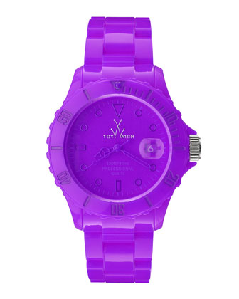39mm Plasteramic Watch, Violet Purple