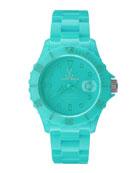 39mm Plasteramic Watch, Aqua