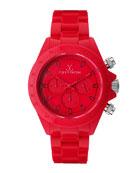 Plasteramic Chronograph Watch, Red
