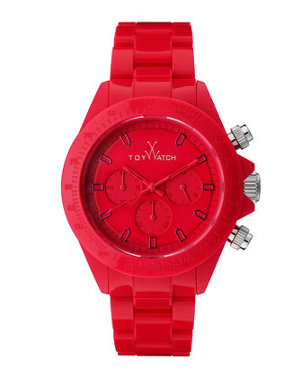 Plasteramic Chronograph Watch, Red