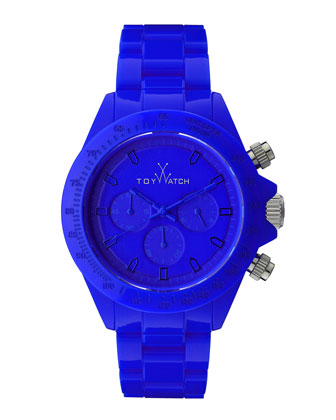 Plasteramic Chronograph Watch, Blue