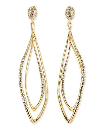 Pave Yellow Golden Orbiting Earrings