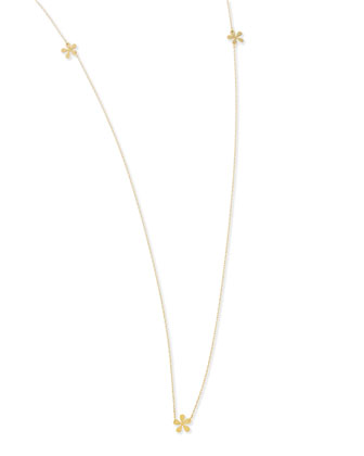 Long Mini Flower Necklace, 37