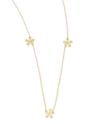 Short Mini Flower Necklace, 23
