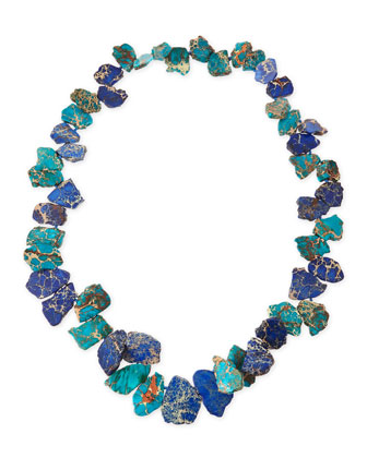 Single-Strand Blue Jasper Chunky Necklace