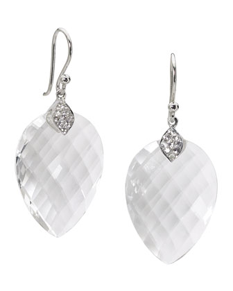 Susanna White Quartz & Sapphire Drop Earrings