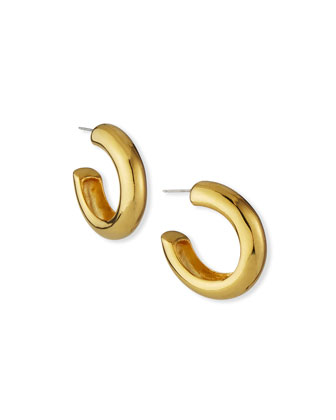 Yellow Gold-Plated Hoop Earrings