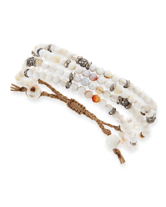 Mix Moon Agate Multi-Strand Bracelet
