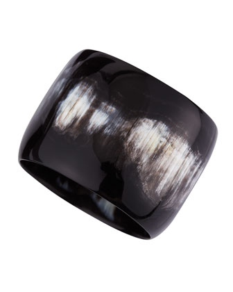 Wide Dark Horn Bangle