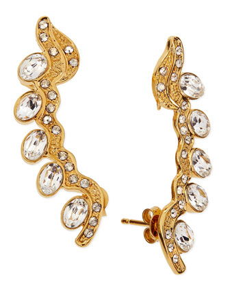 Carine Crystal Lobo Earrings