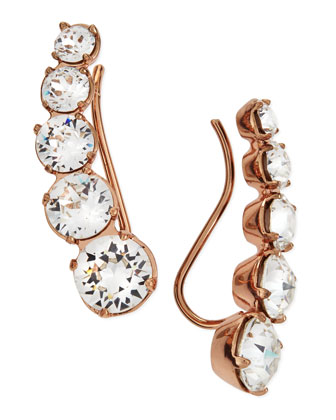 Debutante Lobo Linear Earrings, Rose Gold Plate