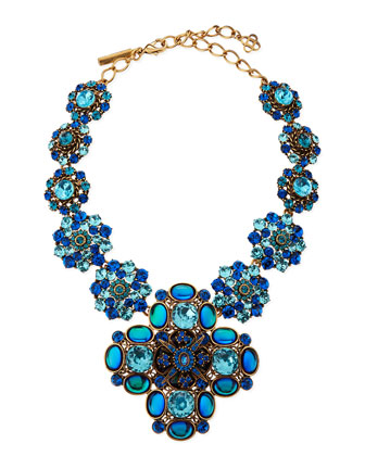 Swarovski Crystal Necklace, Blue