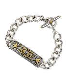 Silver & 18k Gold Tulip ID Bracelet