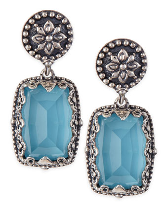 Turquoise Doublet Drop Earrings