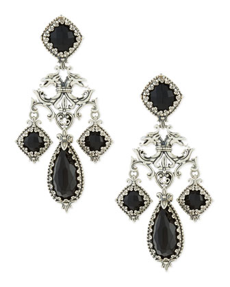 Ornate Black Onyx Earrings