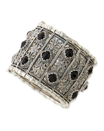 Sterling Silver & Black Onyx Calliope Cuff Bracelet