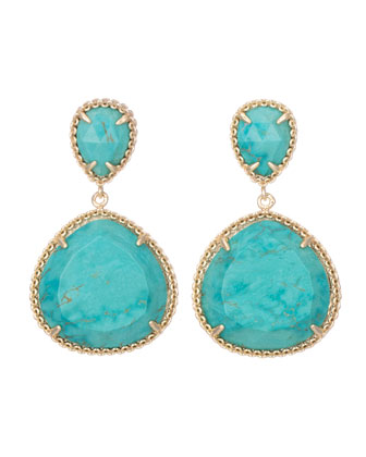 Penny Post Earrings, Turquoise