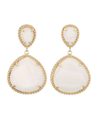 Penny Post Earrings, Mother-of-Pearl