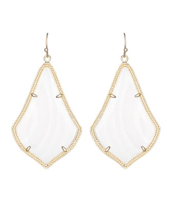 Alexandra Earrings, Mother-of-Pearl