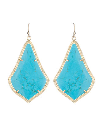 Alexandra Earrings, Turquoise
