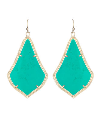 Alexandra Earrings, Teal