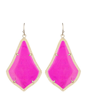 Alexandra Earrings, Magenta