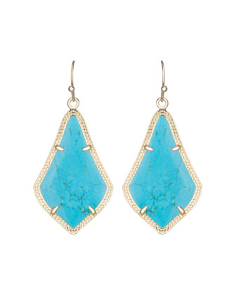 Alex Earrings, Turquoise