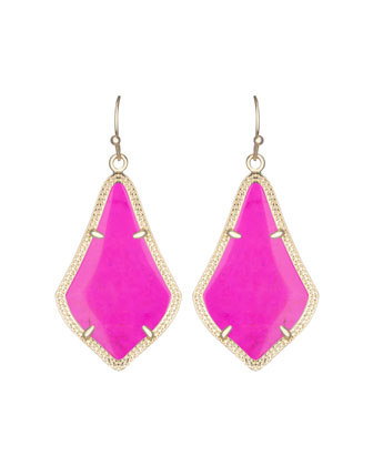 Alex Earrings, Magenta