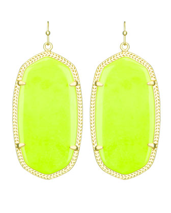 Danielle Earrings, Neon Yellow