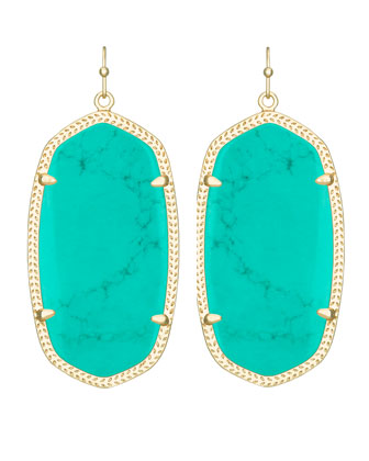 Danielle Earrings, Teal