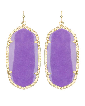 Danielle Earrings, Violet