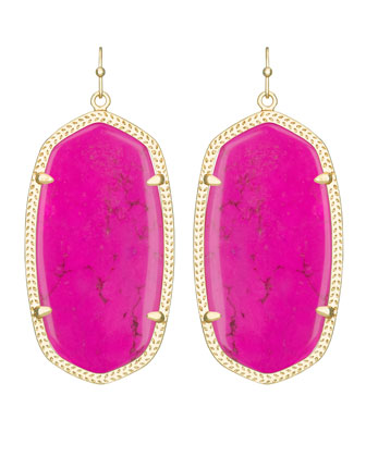 Danielle Earrings, Magenta