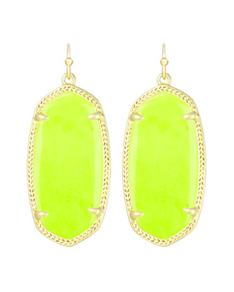 Elle Earrings, Neon Yellow