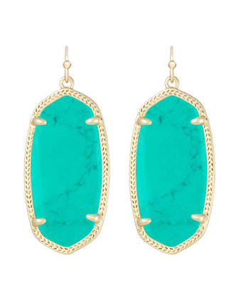 Elle Earrings, Teal