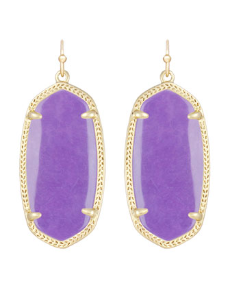Elle Earrings, Violet