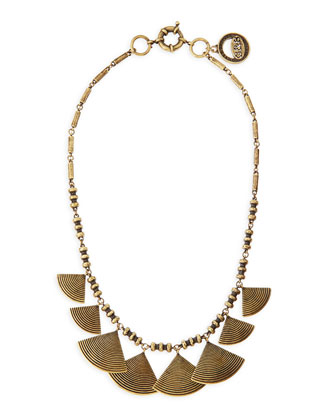 Graduated Fan Collar Necklace