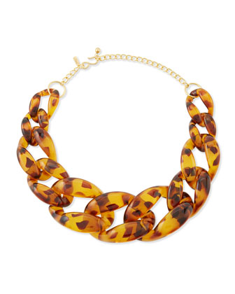Brown Tortoise Link Necklace
