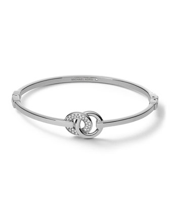 Interlock Circles Bracelet, Silver Color