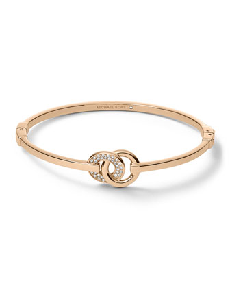 Interlock Circles Bracelet, Rose Golden